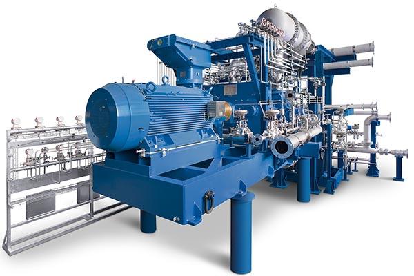 2-stufiges Prozessgasverdichter-Aggregat