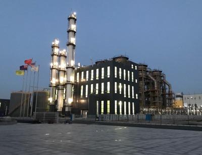 Diese kommerzielle Anlage von Lanzatech und dem Stahlhersteller Shougang in China wandelt Hüttengase in Ethanol um