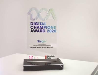 Der Digital Champions Award ist ein Preis, mit dem die Telekom und die Wirtschaftswoche die bedeutendsten Projekte mittelständischer Unternehmen prämieren