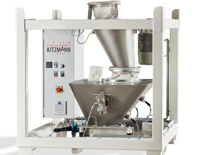 Der Desagglomerator von Kitzmann garantiert eine schonende Trennung und rückstandsfreie Pulverversiebung
