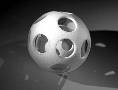 Demo-Bauteil aus dem neuen Kunststoffpulver der Polyamid 6-Reihe von Evonik