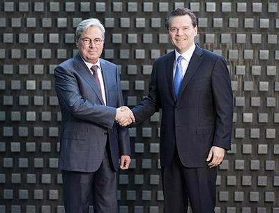 Hariolf Kottmann und Peter Huntsman