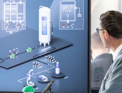 Inbetriebnahme der Rheticus-Versuchsanlage in Marl durch Evonik und Siemens Energy
