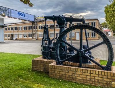Historische Pumpe im Werk Frankenthal