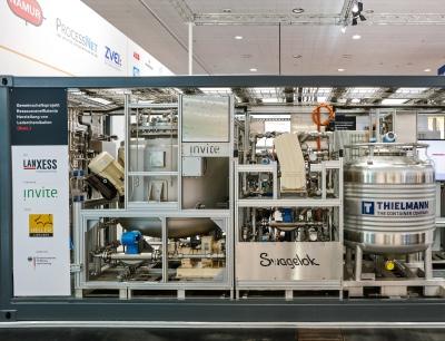 """Die modulare Anlage für die """"Ressourceneffiziente Herstellung von Lederchemikalien"""" von Lanxess"""