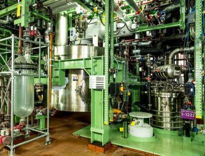 Der Pastenbunker in der Leverkusener Produktionsanlage der Saltigo GmbH