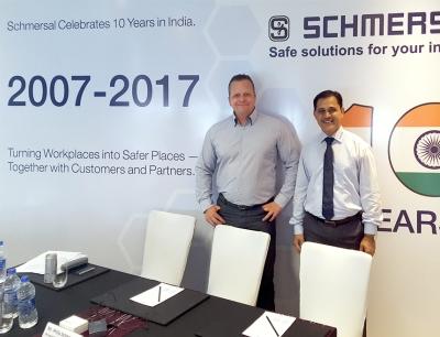 Philip Schmersal, geschäftsführender Gesellschafter, und Sagar Bhosale, Managing Director von Schmersal India