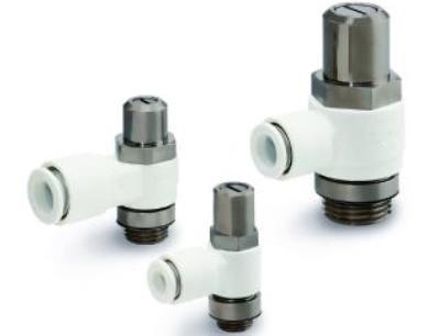 Die Drosselrückschlagventile der Serie AS-W2D sind schwer entflammbar und damit speziell für den Einsatz in brandgefährdeten Bereichen konzipiert. Die Durchflusseinstellung erfolgt mit einem Schraubendreher