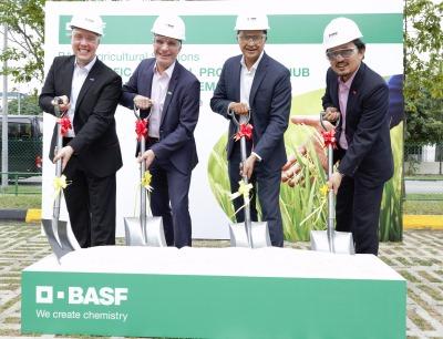 Spatenstich für neue BASF-Produktionsanlage von Pflanzenschutzmitteln in Singapur
