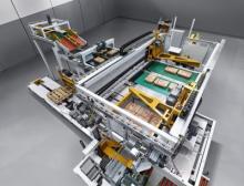 Der Hochleistungspalettierer Beumer Paletpac erstellt exakte, stabile und damit platzsparende Sackstapel