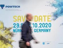 Die nächste Powtech findet vom 29. September bis 1. Oktober 2020 im Messezentrum Nürnberg statt