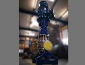 In-Line-Chemieprozesspumpe der CP Pumpen AG für die Förderung feststoffbeladener Flüssigkeiten
