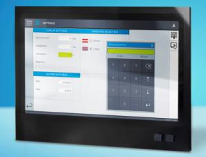Das TT 1933-S von Sigmatek mit einem 18,5 Zoll Multi-Touchscreen für anspruchsvolle Visualisierungen