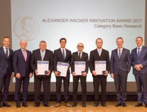Preisverleihung Alexander Wacker Innovationspreis 2017