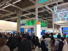 Besucheransturm am Stand von Siemens auf der Achema 2018