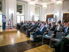 Blick in den Saal bei der Keynote von Dr. Sean Simpspon