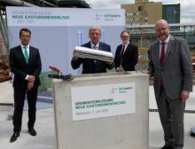 Symbolische Grundsteinlegung für die neue Gasturbinen-Anlage im Industriepark Höchst