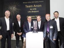 Große Freude über den ersten gewonnenen Lanxess CEO Safety Award