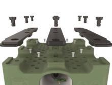 Die patentierte Bajonettverbindung zwischen Container und Kufen macht den Behälter einfach zu reparieren